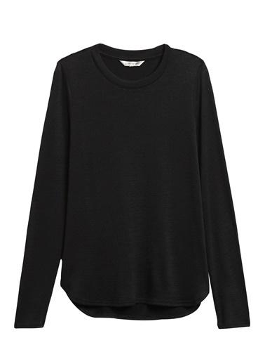 Banana Republic Luxespun Uzun Kollu T-Shirt Siyah